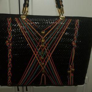 Handbags - Black wicker handbag